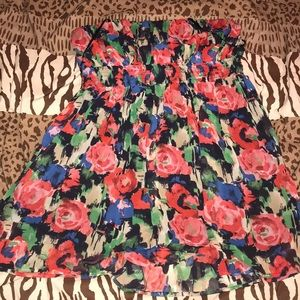 Dresses & Skirts - Multicolored tube top floral dress